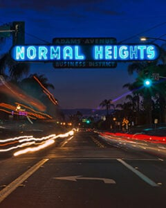 Car Light Trails And Urban Landscape In San Diego, California