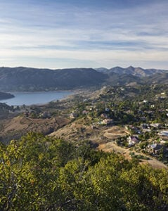 West View from Summit of Bernardo Mountain in Poway, San Diego County North