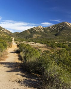 Iron Mountain Hiking Trail in Poway, San Diego County North Inland, California USA